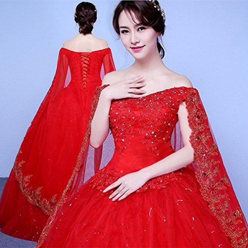 Unbekannt Dress Hochzeitskleid Braut Wort Schulter Hochzeitskleid Gro?en Gr??e Hochzeitskleid War...