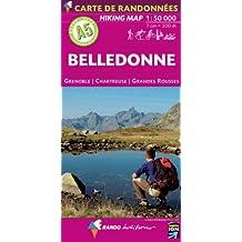 Belledonne : Grenoble, Chartreuse, Grandes Rousses, 1/50 000