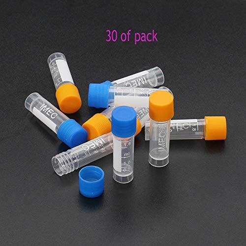 30pcs 1.8ml Plastic Graduated Vial 0.063oz Cryovial Tube Sample