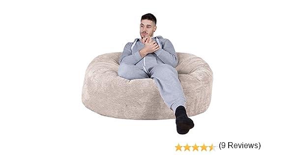 Pompon Poltrona Sacco Pouf Gioco Panna Lounge Pug