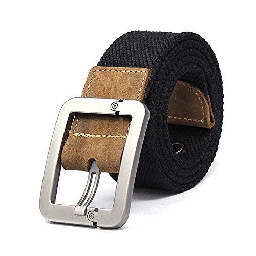 Herrengürtel - Casual Gürtel / Verstellbar Style Gürtel / Leinwand Gürtel / Weberei Gürtel für Outdoor-Aktivitäten / Koreanische Version des Jeans Gürtel,Schwarz (Dakine-leder-gürtel)