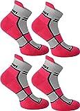 4 Paar Sneaker Laufsocken mit Frotteesohle und Stützfunktion Farbe Pink