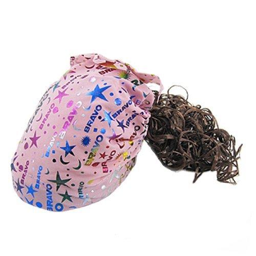 Light Pink intégré Bandeau perruque Hat pour les enfants