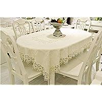 Moda Beige Hollow Tabella stuoia di tessuto Tovaglia rotonda panno Tavolino Tovaglia sedia set da scrivania Panno TV Cabinet Panno ( dimensioni : 6# )