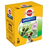 Pedigree DentaStix Daily Fresh for Small Dogs 5-10 kg, 28 Sticks, 4 x 110 g (Pack of 4)