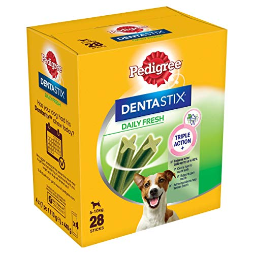 Pedigree Dentastix Fresh - Friandises pour Petit Chien, Lot de 4 (4 x 28 = 112 Bâtonnets à Mâcher en totale)