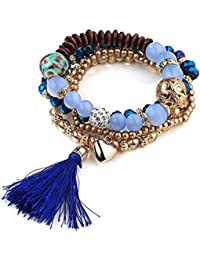 """Young & Forever """"Paradiso Collection"""" Diwali Gifts Special Midnight Blue Heart Charm Mesmerizing Tassel Elegant..."""