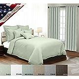veratex 100% Leinen Modern und elegant tailliert Fenster Querbehang Vorhang Made in den USA, sand