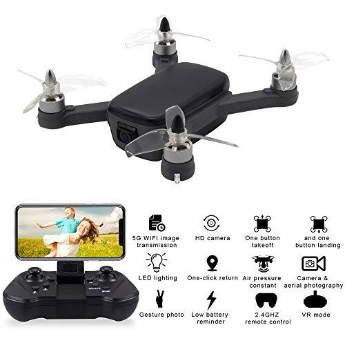 ┃byeeet┃ drone fotocamera con telecomando drone giroscopio con altitudine hold telecomando quadcopter hd wifi telecamera fpv 2.4ghz-2.48ghz 15 minuti di tempo di volo nero