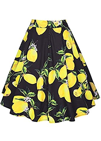 50s Vintage Floral Swing Full Circle Pleated Knee Length Skirts
