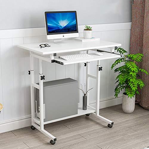 YQ WHJB Computertisch Mit Tastaturunterlage,Mobile Nachttisch,Schreibtisch Rolling Cart Höhenverstellbar Home Computer Schreibtisch Stand Zu überwachen-c - Höhenverstellbare Pc-wagen