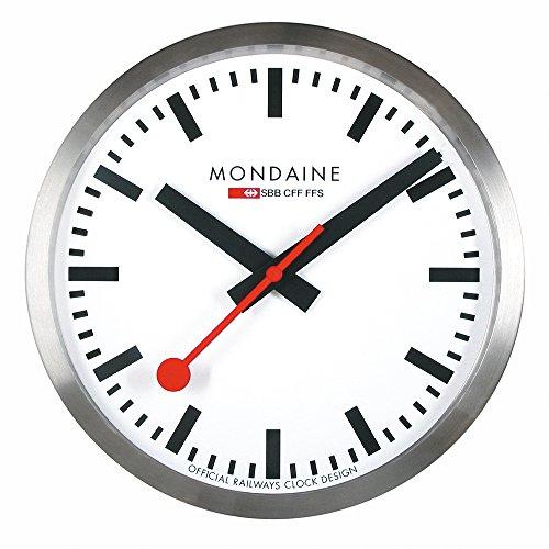 Mondaine Clock - Wanduhr - Schweizer Bahnhofsuhr - Aluminium