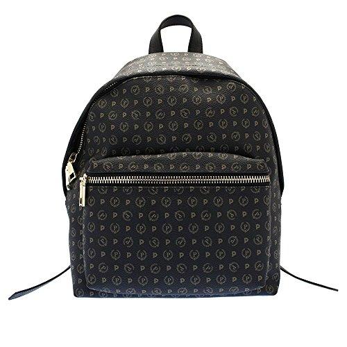 Pollini Heritage backpack Tapiro Pvc calf leither black