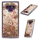 MUSESHOP Funda para Samsung Galaxy Note 9, Purpurina Líquida Que Fluye Cubierta Brillante Carcasa Liquida Cristal TPU Gel Fina Arenas Movedizas - Canica