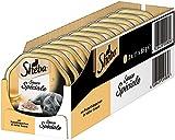 Sheba Adult Katzen-/Nassfutter, für Erwachsene Katzen Sauce Spéciale, mit Putenhäppchen in Heller Sauce in Sauce, 22 Schalen (22 x 85 g)