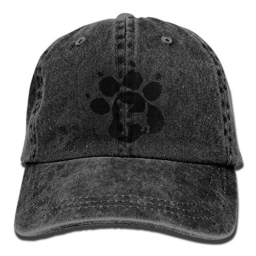 Preisvergleich Produktbild QIOOJ Vintage Adult Sport Baseball Cap Chihuahua Dog Pet Paw Print Adjustable Denim Cowboy Hat for Men Women