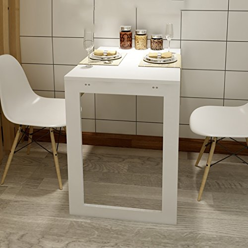 Faltbarer Wandtisch ZCJB Wand-Tabelle Computer Schreibtisch Multifunktions-Klapptisch Einfache Klapp Esstisch Gegen Die Wand Kleine Wohnung Home Kleine Tabelle, L74 * W45CM * H75CM (Farbe : Weiß) - Klapp-esstisch