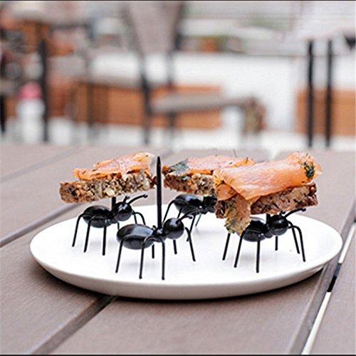 12Küche Gadgets Mini Ant Früchte, Gabel Kunststoff Dekoration Küche Bar Kids Dessert Gabeln Geschirr