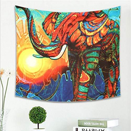 Weijunt Animales Imprimir Tapicería Decoración para el hogar Tapices de Elefantes Cubierta...