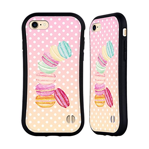 Ufficiale Monika Strigel Caramella Macarons Case Ibrida per Apple iPhone (Finiture In Pelle Caramella)
