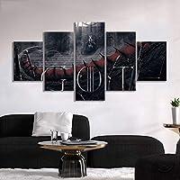 ZYUN Lona Pintura Mural 5 Piezas Una Canción De Hielo Y Fuego Daenerys Targaryen Poster Pinturas Got Game of Thrones Movie Poster Ilustraciones Decoración Mural,B,20×35×2+20×45x2+20x55×1