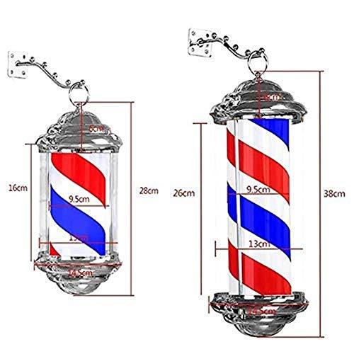 Barber Pole Light, Barber Sign for rotierende Friseur, Led Hair Hair Salon Salon Barber Shop Sign Rotation leuchtet (Size : 38×13cm)