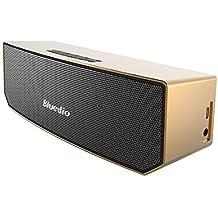 Bluedio BS-3 (Camel) Wireless Portable Casse Bluetooth Diffusore Altoparlante Revolution 3D Neodymium Magnets/52mm Ultra-big Drive Units/Rich Bass Soundbar/Excellent 3D Surround System (Oro)