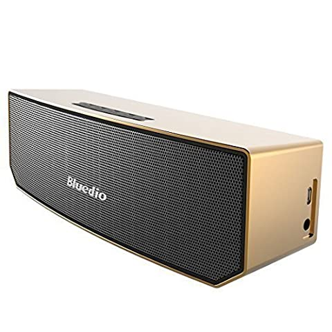 Bluedio BS-3 (Chameau) Enceinte Bluetooth Portable 3D audio Aimants en Néodyme Révolutionnaire/ 52mm. du Drive/ Enceinte sans fil avec la basse riche/ 3D stéréo surround scène Excellente Emballage détaillant de cadeau (Doré)