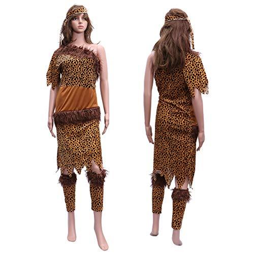 BESTOYARD Indische Indigene Kleidung Indische Kostüme Savage Kostüme Adult Leopard Kleidung Halloween Kostüme (4XL) (Adult Kostüm Indischen)