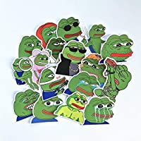 yunkanda 17Pcs/Lot Pepe Sad Frog Stickers Decal For Snowboard Luggage Car Fridge Car- Styling Laptop Stickers