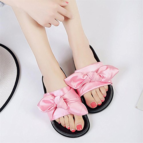 ... LHWY Damen Bow Wedge Sandalen Beach shoes Flip Flops Platform  Hausschuhe Pink ...