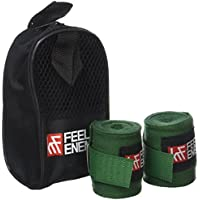 KRF Feel The Enemy 0016983VD Vendas Semi elásticas, Verde, 2.5 m