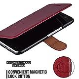 Mulbess HTC 10 hülle Wein Rot,Ledertasche für HTC 10
