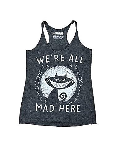 Akumu Ink - Damen Tank Top - We´re all Mad Here (Grau) (S-L) (S)