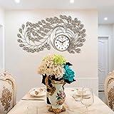GAOLILI Orologio di pavone Orologio da parete creativo Orologio da parete decorativo silenzioso decorativo personalizzato ( Colore : E )