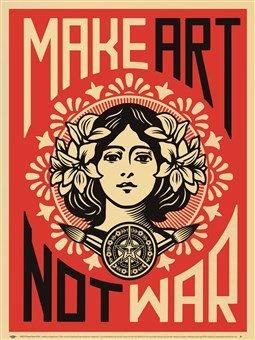 Shepard Fairey - Fare arte non la guerra Stampa Artistica (45,72 x 60,96 cm)