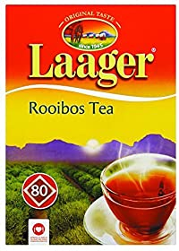 Laager South African Rooibos Tea - 80 count, 7 oz, 100% Naturally Organic, Caffeine Free, Healthy and Pure, Red Bush Herbal Tea. Rich in Vitamins and Antioxidants
