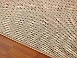Teppich Bentzon Flachgewebe Sand Schwarz Trend in 22 Größen
