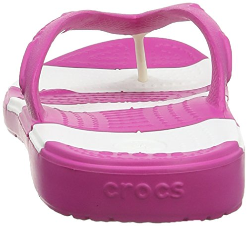 crocs Beach Line Flip 15335-42K-700 Unisex-Erwachsene Zehentrenner Pink (Fuchsia/White)
