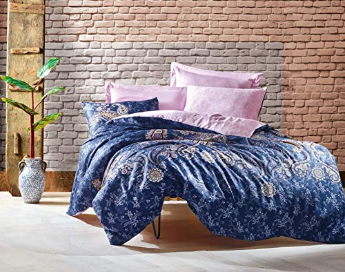 Optima Mako Satin Bettwäsche-Set 155×2220 cm Mandala-Muster Elita-Lila aus 100% Baumwollsatin