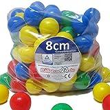 Bällebad Bälle 8cm (100) in Kindergarten & Gewerbequalität Babybälle Plastikbälle ohne gefähliche Weichmacher (TÜV zertifiziert = fortlaufende Prüfungen seit 2012)