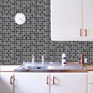 New marca classic mosaic sticker bagno 50 cm 50 cm wc for Adesivi decorativi per piastrelle bagno