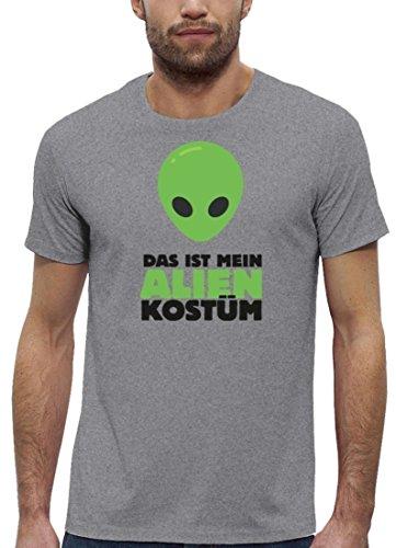 Fasching Karneval Premium Herren T-Shirt Bio Baumwolle Das ist mein Alien Kostüm 2 Stanley Stella Heather Grey