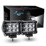 MICTUNING 2X18W Auto LED Zusatzscheinwerfer Arbeitslicht LED Light Bar