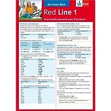 Red Line 1 - Auf einen Blick: Grammatik passend zum Schulbuch - Klappkarte (6 Seiten)