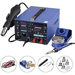 estación de soldadura aire caliente Soplete 3en 1SMD equipo para soldar con accesorios Profesional 853d USB, 2A