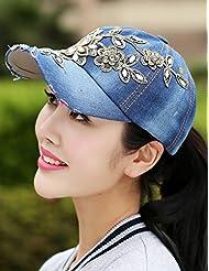 Printemps et automne et personnalité Mode Hiver réglable Rhinestone Cowboy Hat Baseball Cap Visor (8 sortes de styles en option)