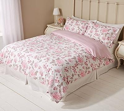 Pieridae English Garden Pink Flower Floral Duvet Bedding Quilt Cover Check - cheap UK light shop.