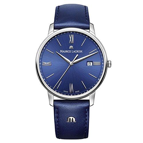 Maurice Lacroix Men's Analogue Quartz Watch with Leather Calfskin Strap EL1118-SS001-410-1