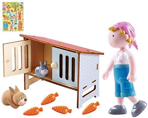 Haba Little Friends Hase Mimi und Vreni im Set I Hasen-Stall I Bauernhoftiere I Geschnkset I inkl. Geschenkverpackung I Kinder
